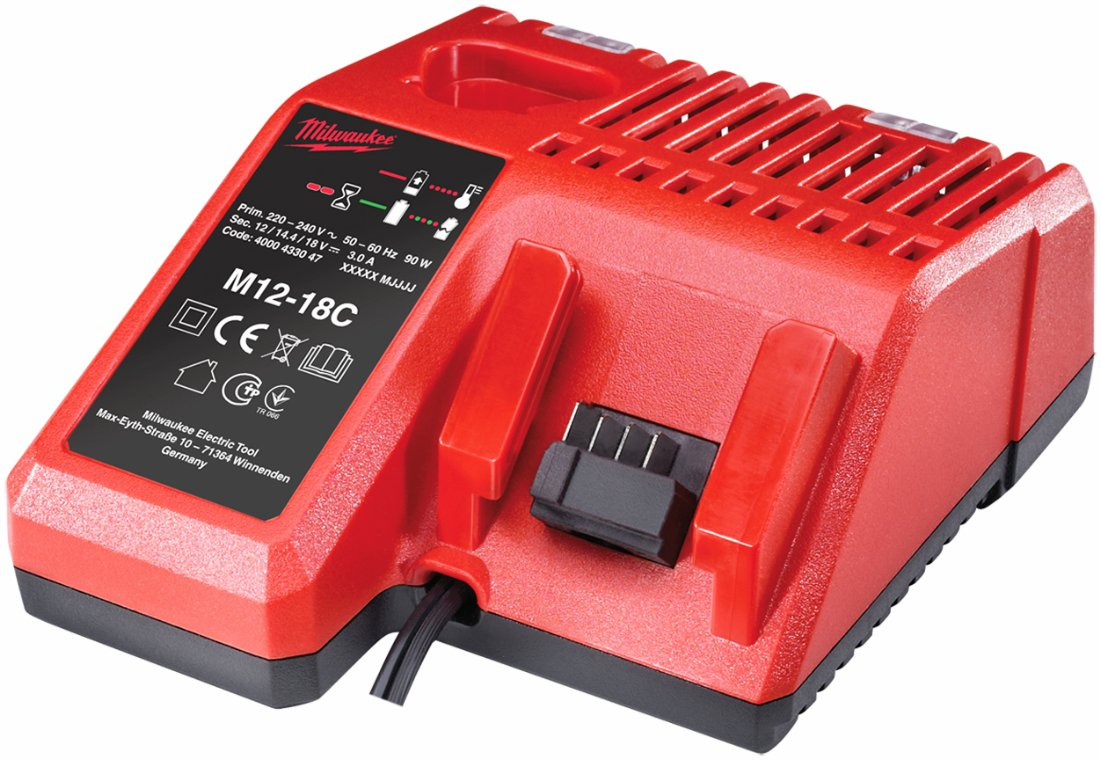 Lader til batterier M12-18C. Milwaukee